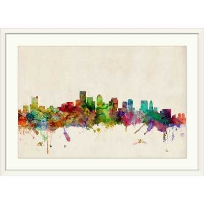 'Boston Skyline' by Michael Tompsett Graphic Art Print - Wayfair
