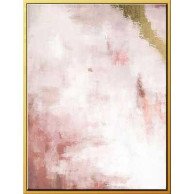 Blush Field, Gold Streak - Floater Frame Print on Canvas - AllModern