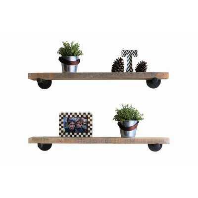 Mertz Floating Shelf, Natural (set of 2) - Wayfair