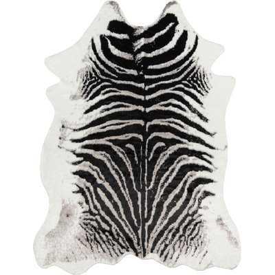 Acadia Zebra Black Area Rug - Wayfair