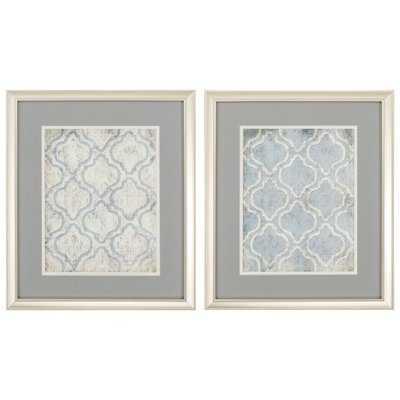 2 Piece Framed Graphic Art Set - Wayfair