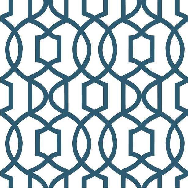 Navy Grand Trellis Peel and Stick Wallpaper Sample, Blues - Home Depot