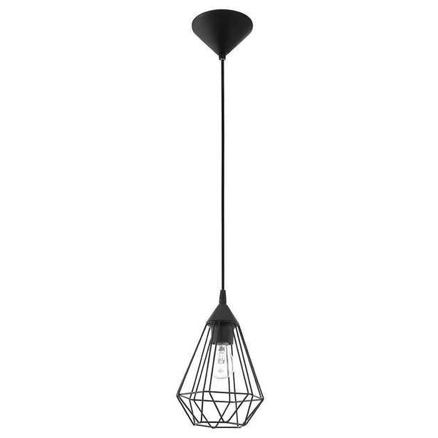 EGLO Tarbes 1-Light Matte Black Mini Pendant - Home Depot