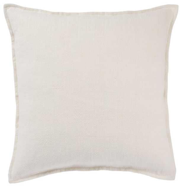 "Octavia Pillow, 22""x 22"", White - Studio Marcette"