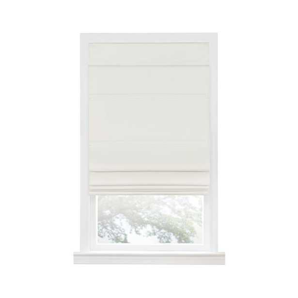 Achim Ivory Cordless Blackout Window Roman Shade - 27 in. W x 64 in. L - Home Depot
