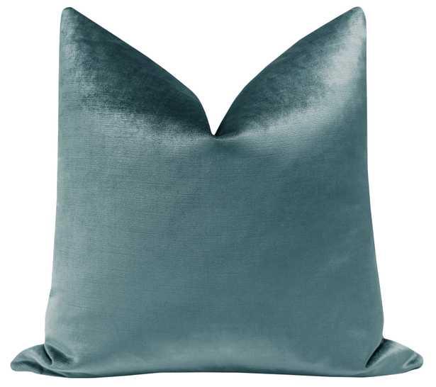 """Faux Silk Velvet // French Blue - 18"""" X 18"""" - Little Design Company"""