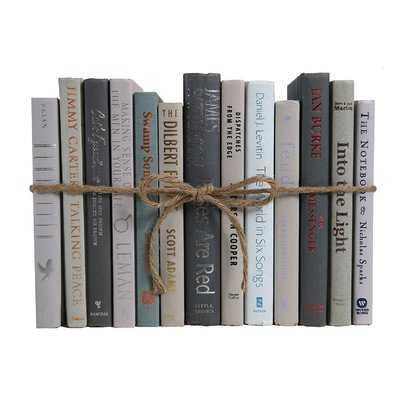 Authentic Decorative Books - By Color Modern Granite ColorPak (1 Linear Foot, 10-12 Books) - Wayfair