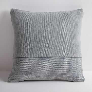 """Cotton Canvas Pillow Cover, 18"""" sq, Iron - West Elm"""