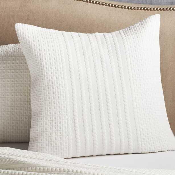 Doret White Euro Pillow Sham - Crate and Barrel