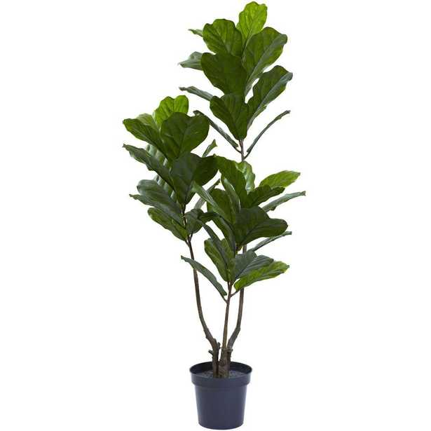 65 in. UV Resistant Indoor/Outdoor Fiddle Leaf Tree - Home Depot