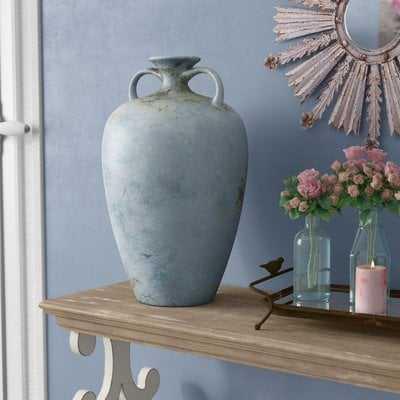 Pindall Handcrafted Blue Vase - Wayfair