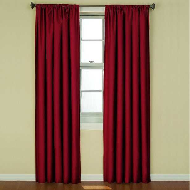 Eclipse Kendall Blackout Ruby (Red) Curtain Panel, 84 in. Length - Home Depot