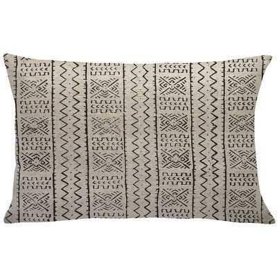 Abdinour Mud Cloth Linen Lumbar Pillow - Wayfair