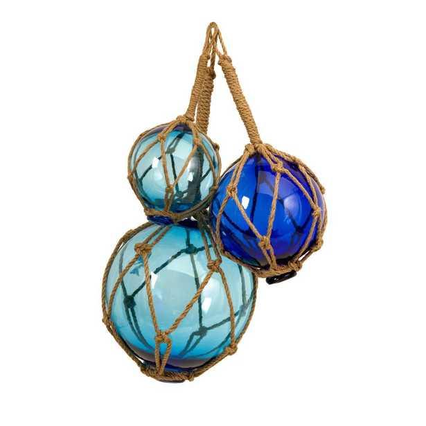 IMAX Worldwide Home Buoyant Glass Floats (Set of 3), Blue - Home Depot