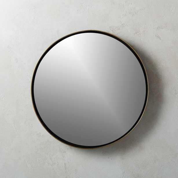 """Shadow Circle Wall Mirror 19.5"""" - CB2"""