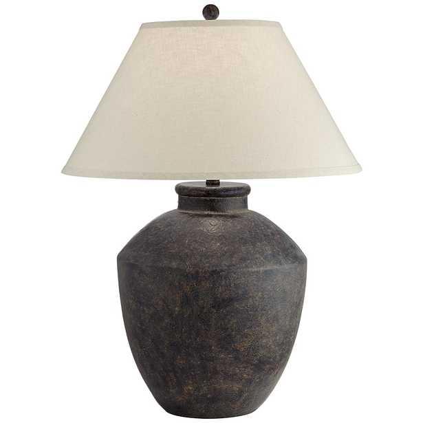 Massa Black Terracotta Jar Table Lamp - Style # 70X06 - Lamps Plus