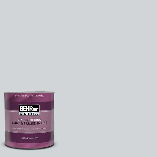 BEHR ULTRA 1 qt. #750E-2 Twilight Gray Eggshell Enamel Interior Paint and Primer in One - Home Depot