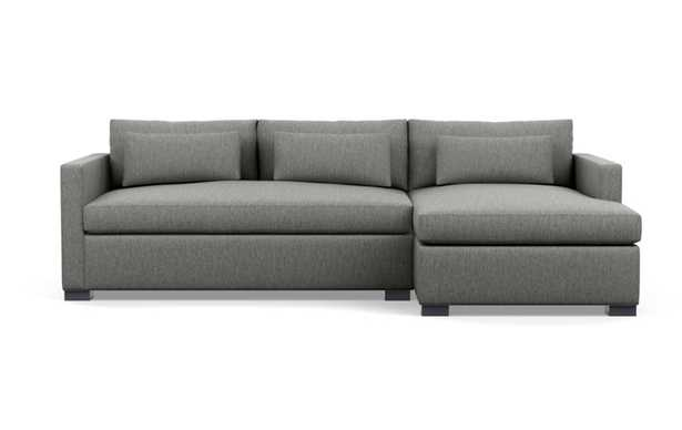 Gray Sofa with Yellow Ochre Fabric and down alt. cushions - Interior Define