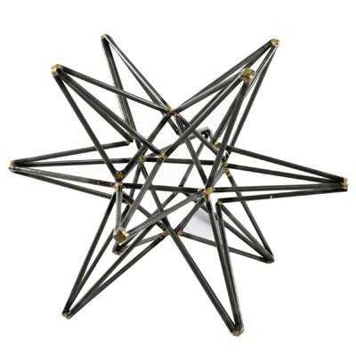 Clayton Gunmetal Star Sculpture - Wayfair
