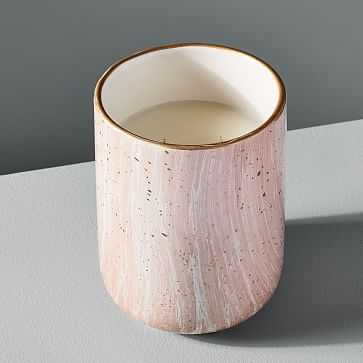 Modern Elements Candle, Large Tumbler, Pink, Rose Quartz, 17 oz - West Elm