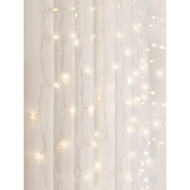 Merkury Innovations 96-Light 4 ft. Warm White LED Curtain Cascading Lighting - Home Depot