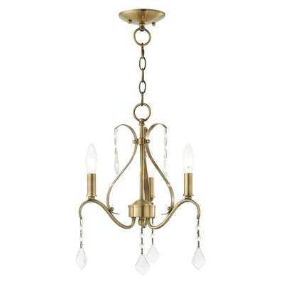 3 Light Antique Brass Chandelier - Wayfair