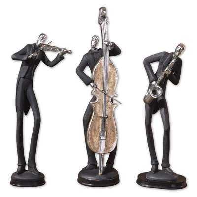 Leedom Musician 3 Piece Figurine Set - Wayfair