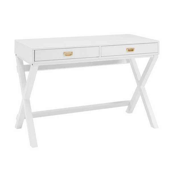 Sara White Writing Desk - Home Depot