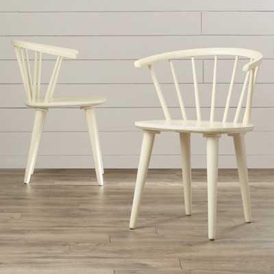 Dora Grove Solid Wood Dining Chair, set of 2 - Wayfair