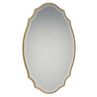Blaisdell Horizontal Traditional Gold Accent Mirror - Birch Lane