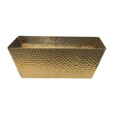 Hammered Metal Basket - Wayfair