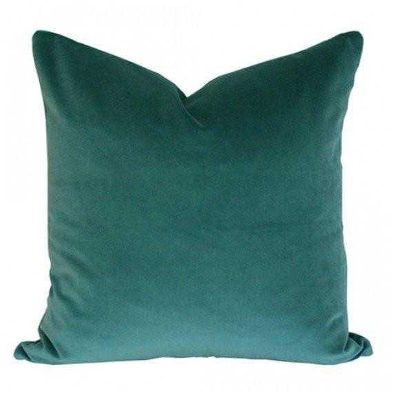 Teal Velvet - 20x20 pillow cover - Arianna Belle