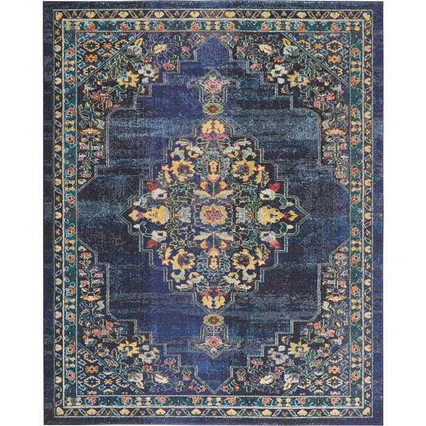 Nourison Passionate 8' x 10' Dark Blue Multicolor Kashan Area Rug - Home Depot