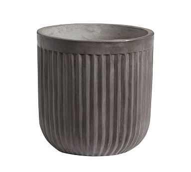 Concrete Fluted Planter, Medium - Pottery Barn