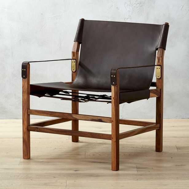 Expat II Leather Safari Chair - CB2