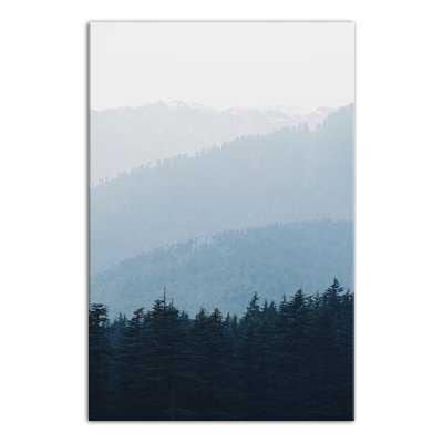 'Blue Mountain Range' Photographic Print on Canvas - Wayfair