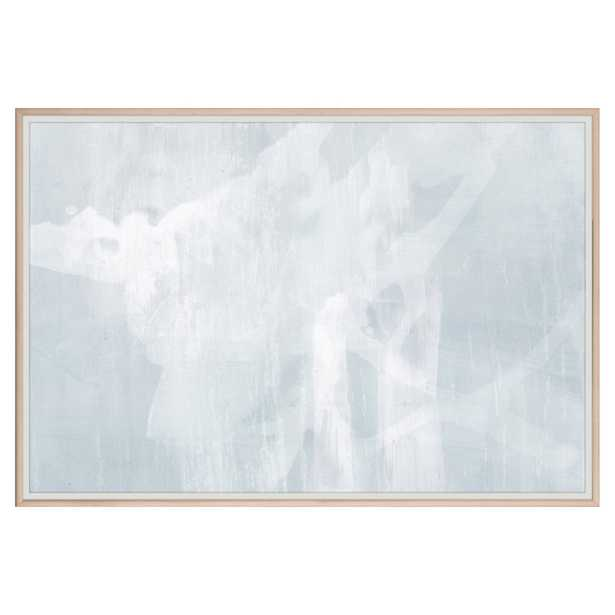 Catena Modern Abstract Blue Grey Painting - Maple Frame - Kathy Kuo Home