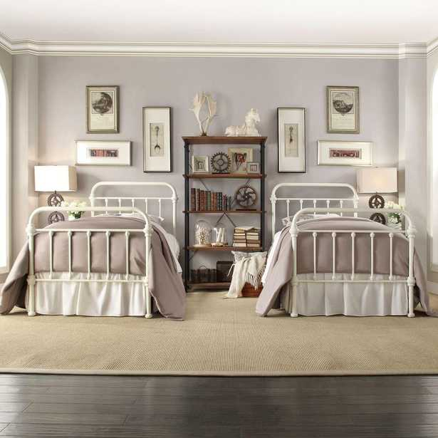 Calabria White Twin Bed Frame - Home Depot
