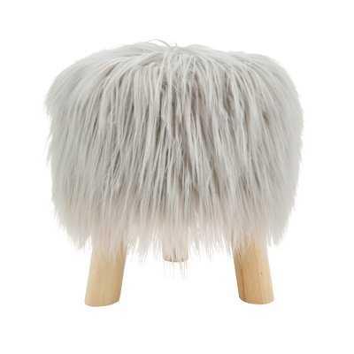 Ortegon Mane Attraction Faux Fur Accent Stool - Wayfair