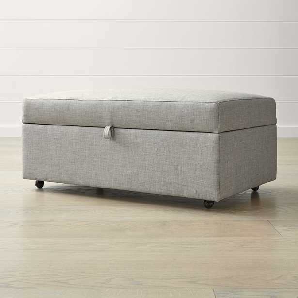 Barrett Storage Ottoman with Tray and Casters - Crate and Barrel