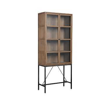 Inglewood Small Display Cabinet, Warm Taupe - Pottery Barn
