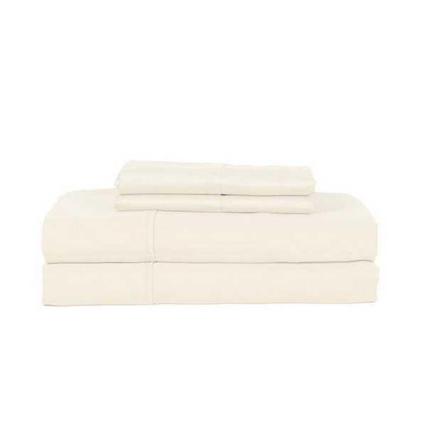 4-Piece Ivory King Sheet Set - Home Depot