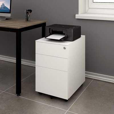 Hambly 3 Drawer Mobile Vertical Filing Cabinet - Wayfair