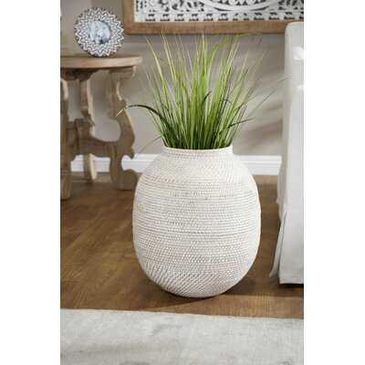 Natumbua Handwoven Bamboo Floor Vase - Wayfair
