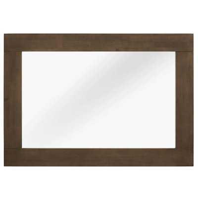 Burson Wood Frame Mirror in Walnut - Wayfair