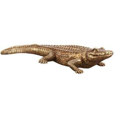 Antique Gold Crocodile Sculpture - Wayfair