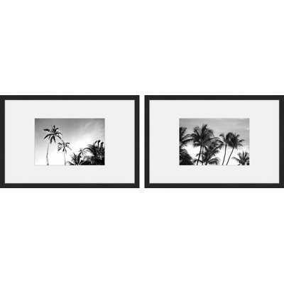 'Palm Views Diptych' 2 Piece Framed Photographic Print Set - Wayfair