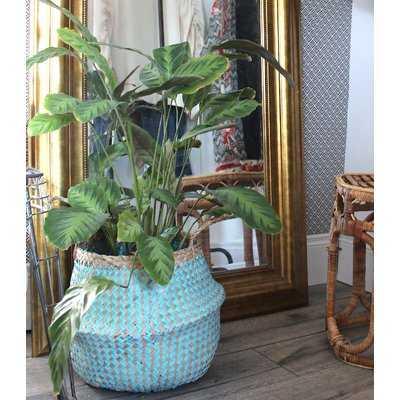 Natural Woven Wicker Tote Belly Basket - Wayfair