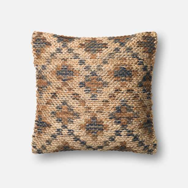 """PILLOWS - BROWN / BEIGE - 22"""" X 22"""" Cover w/Down - Loma Essentials"""