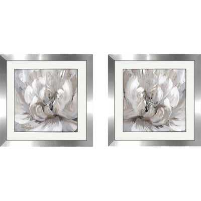 'Burst of Spring II' 2 Piece Framed Acrylic Painting Print Set - Wayfair